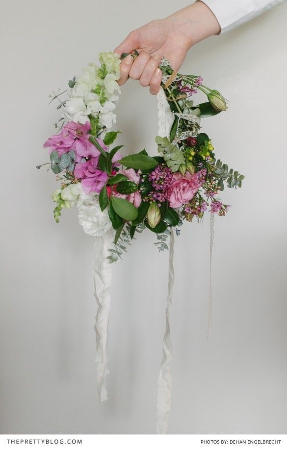 Make Your Own Boho Wreath!   Wreaths, Floral crown and Hand bouquet
