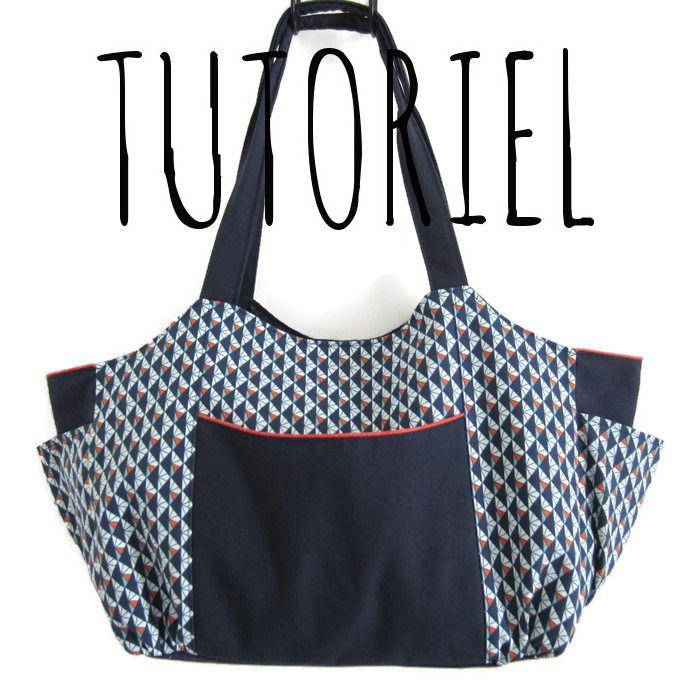 Tutoriel de couture grand sac emma fiche explicative sac a langer sac cabas original kits - Tuto grand sac cabas ...