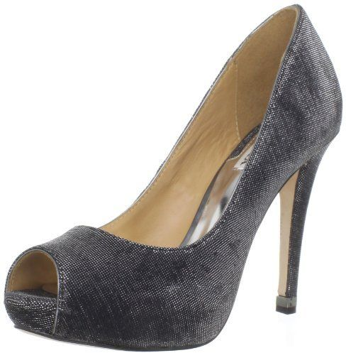 Badgley Mischka Womens Humbie IV Peep-Toe Pump