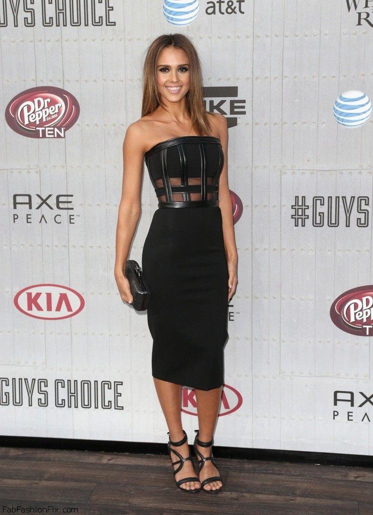 Jessica Alba in David Koma dress at 2014 Spike TV's Guys Choice Awards.