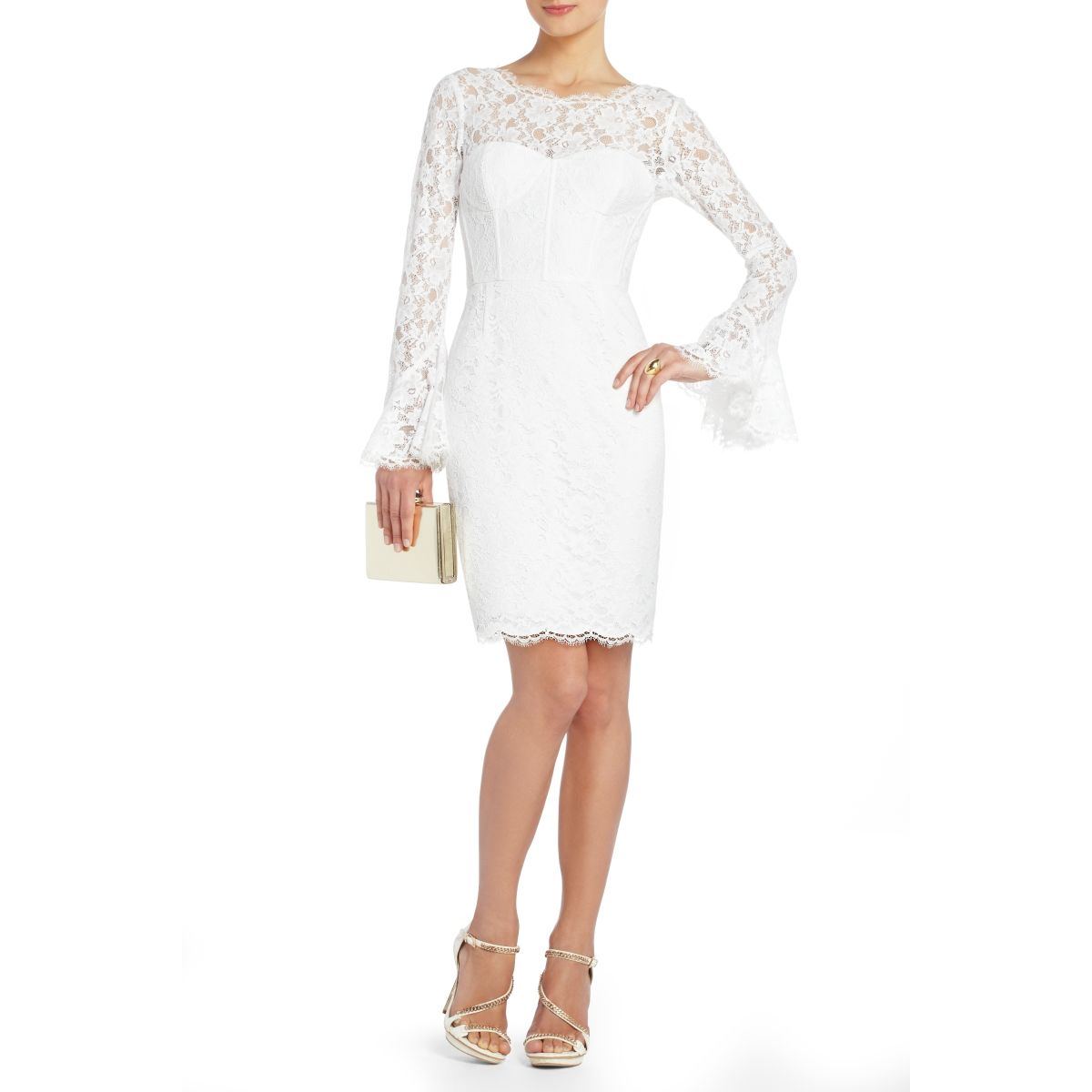 Bcbg salina lace corset cocktail dress wedding dresses rehearsal