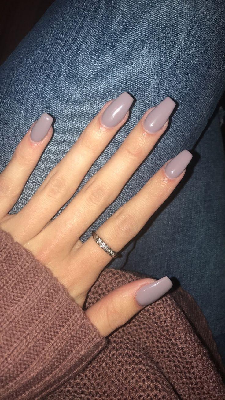 Acrylic Nails Acrylic Nails Lightgrey Purple Dnd Gel 445 Melt Violet Acrylic Nails In 2020 Purple Nails Short Acrylic Nails Trendy Nails
