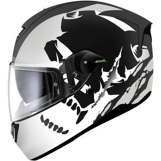 7fa9ae80 Shark Skwal Instinct Helmet Matte Black / White / Silver. Aggressive,  incredibly versatile and perfectly balanced, this helmet is the first full  face helmet ...