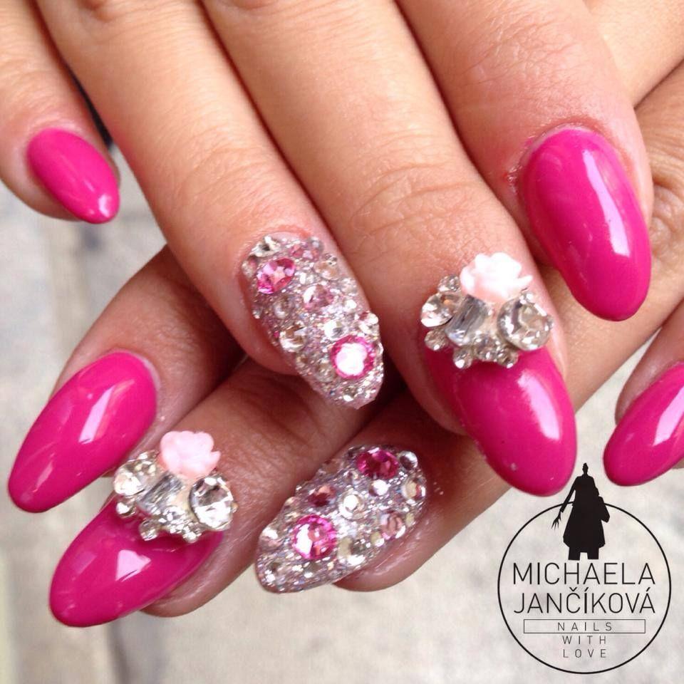 Nails art - fuschia nails by Michaela Jancikova | nails | Pinterest