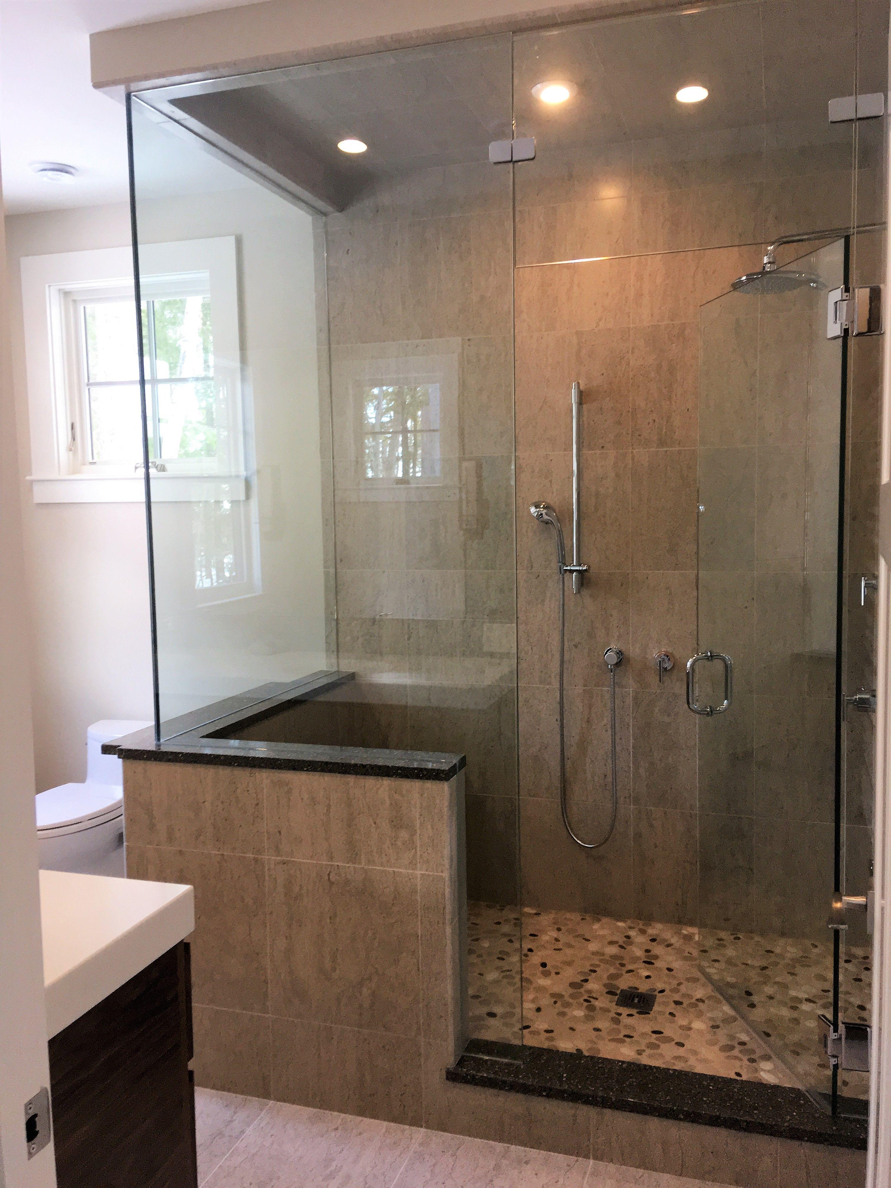 Steam shower with pebble floor   Bathroom   Pinterest   Steam showers