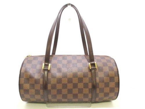 35b437b31ddd Auth LOUIS VUITTON Papillon 30 N51303 Ebene Damier Canvas Handbag ...