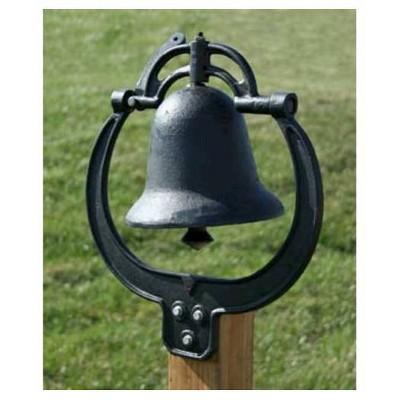 8 5 Cast Iron Farm Bell Black Sportsman Cast Iron Bell Cast Iron Dinner Bell