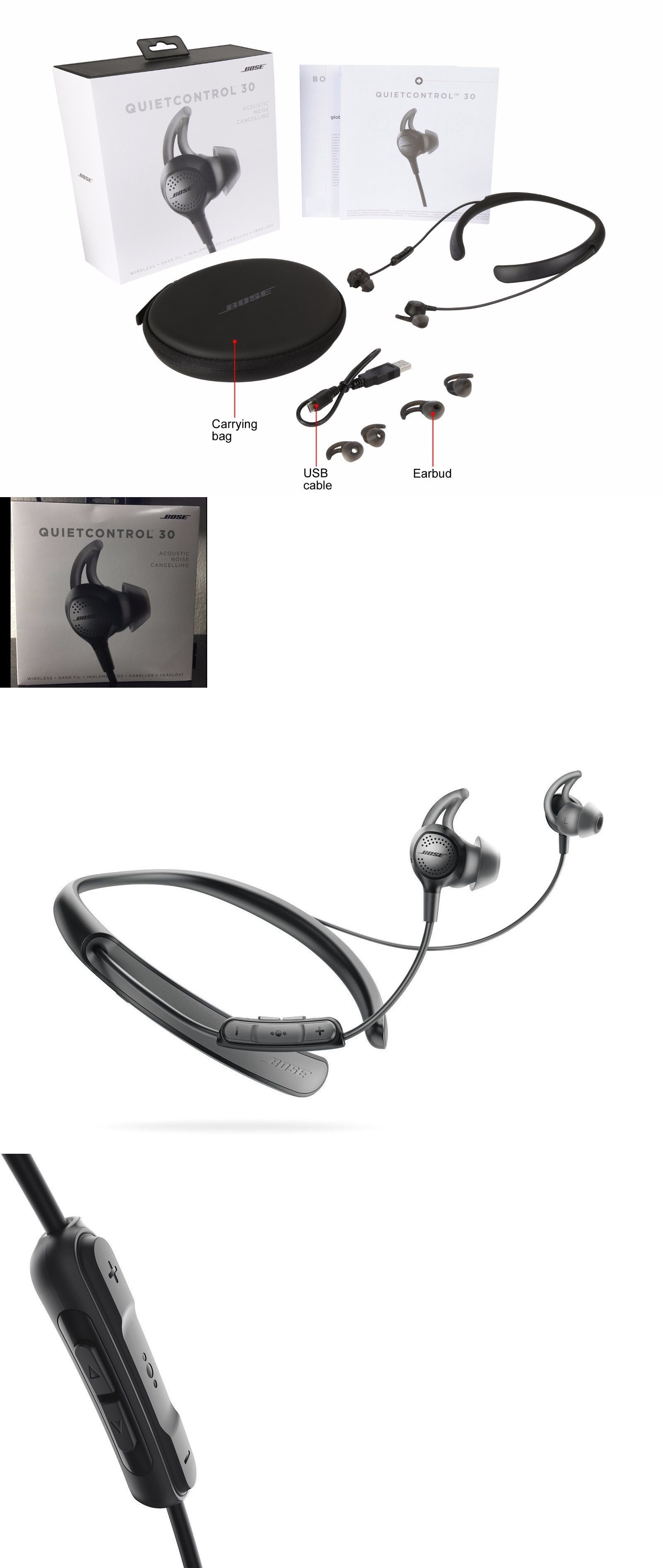 Headsets And Earpieces 2017 Brand New Sealed Bose Quietcontrol30 Earphone Sony Xb80bs Extra Bass Sports Bluetooth Qc30 Wireless Headphones Black