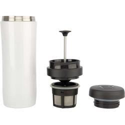 Photo of Travel Press thermo mug for coffee white