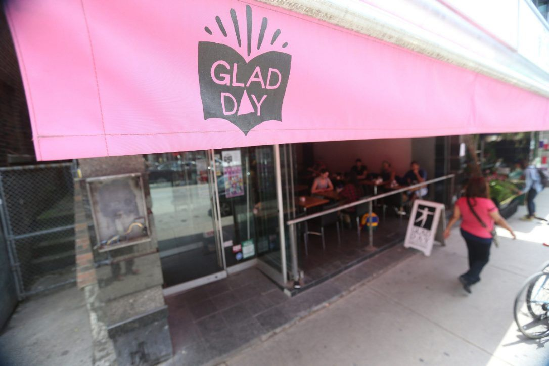 The New Glad Day Bookshop location on Church Street was recently opened -  all the shelves are on wheels and can be turned around to convert the space  into a ...