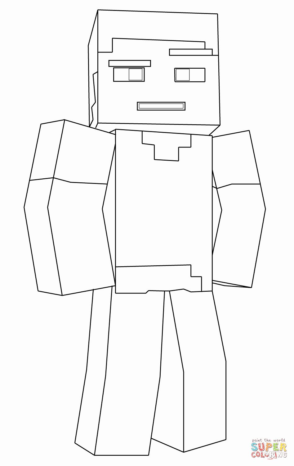 32 Minecraft Steve Coloring Page In 2020 With Images Minecraft