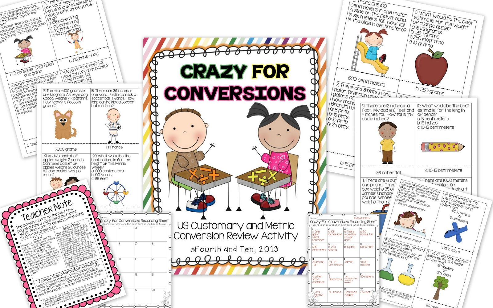 Making Conversions Metric And Customary Activity Cards