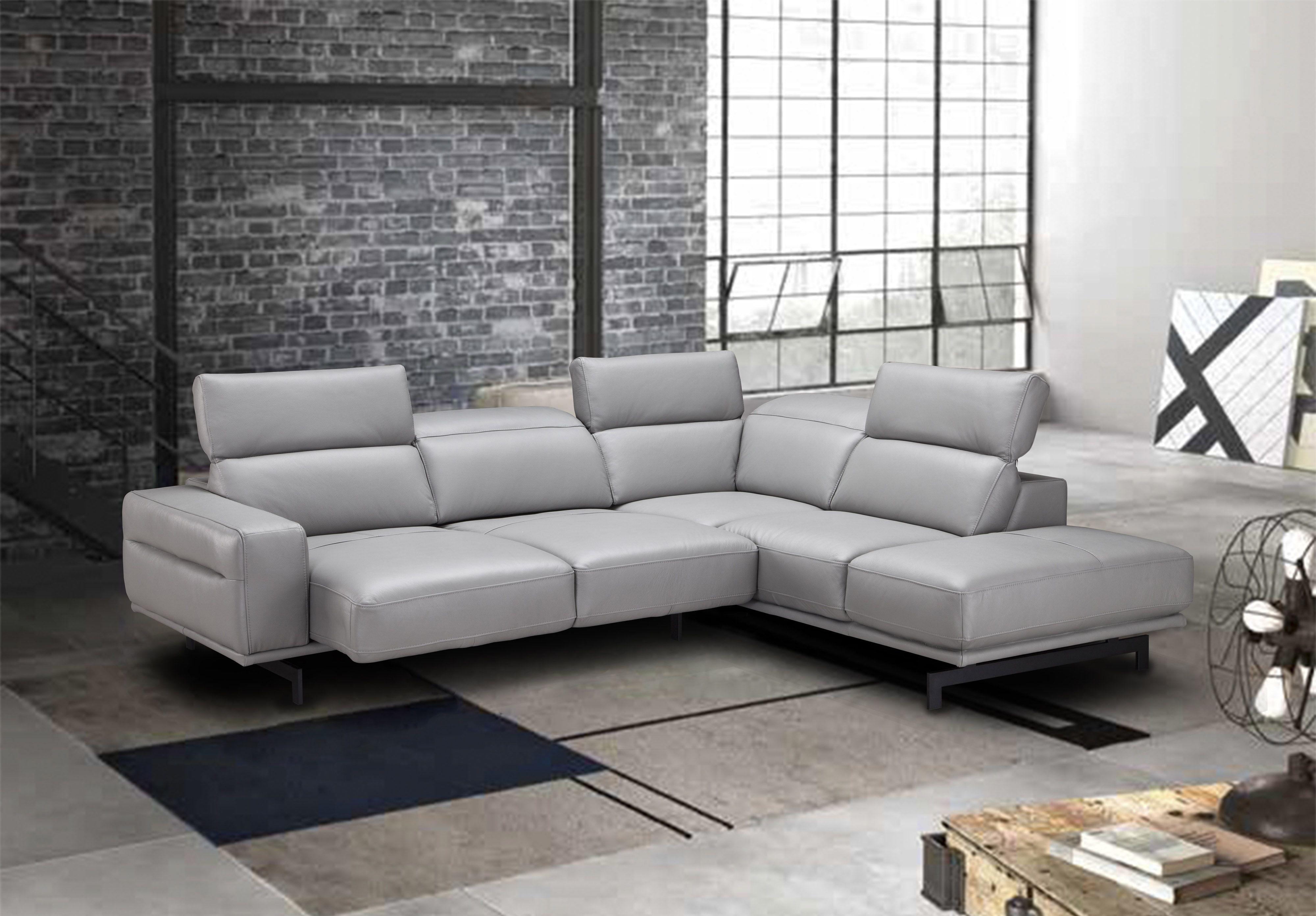Adjustable Advanced Italian Top Grain Leather Sectional Sofa In