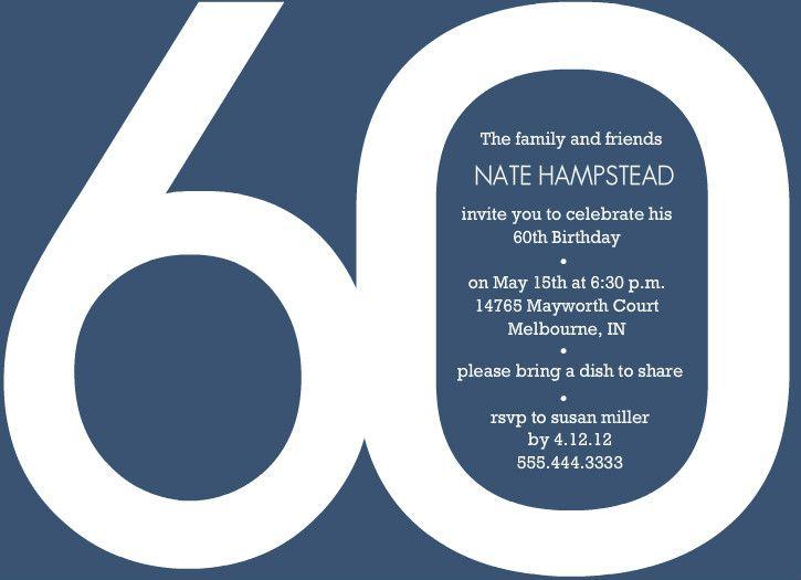 60th Birthday Invitations Templates Purple Trail , 60th Birthday - birthday invite template free