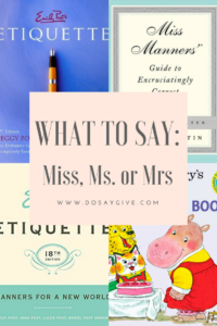 miss ms or mrs what to do and what to say pinterest