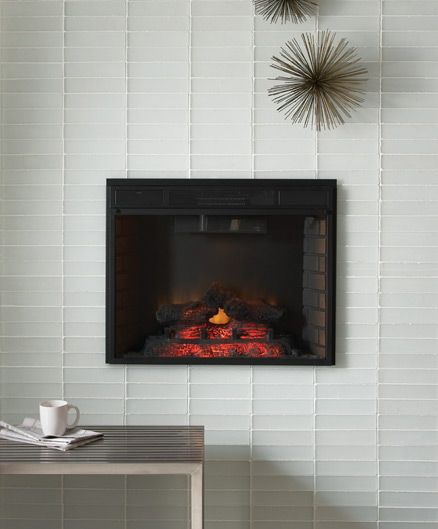 Hearth And Cabinets More: Glass Tiles- More Urban Look- The White Tile And Black