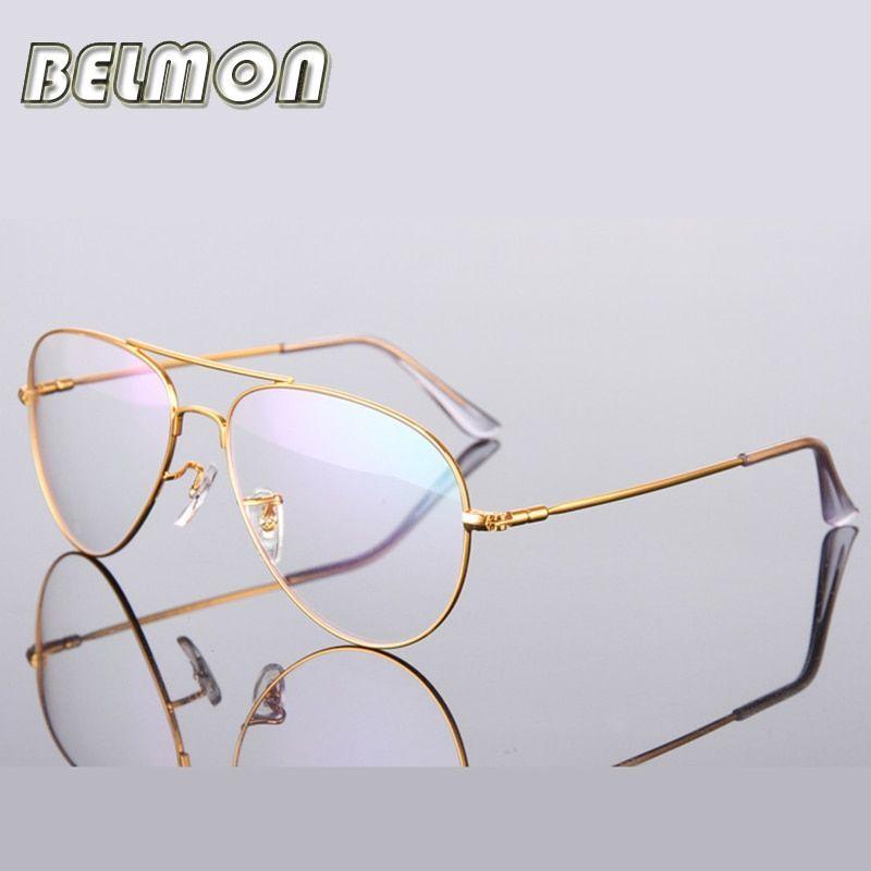 Gold Glasses Frame Women Men Computer Optical Eyeglasses Spectacle Frame For Women's Transparent Male Armacao de RS271 #womenfashion #womenglasses #EyewearFrames