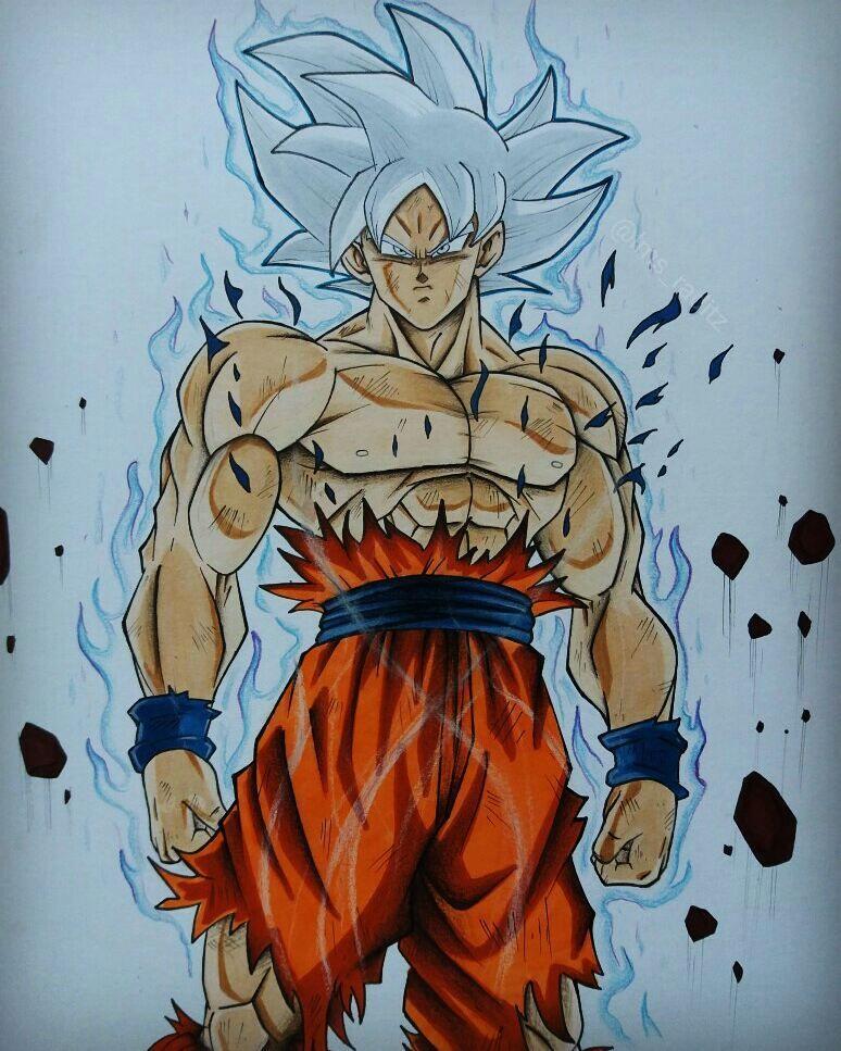 Goku ultra instinto perfecto my drawings goku dibujos de drag n y dibujo de goku - Imagenes de dragon ball super ultra instinto ...