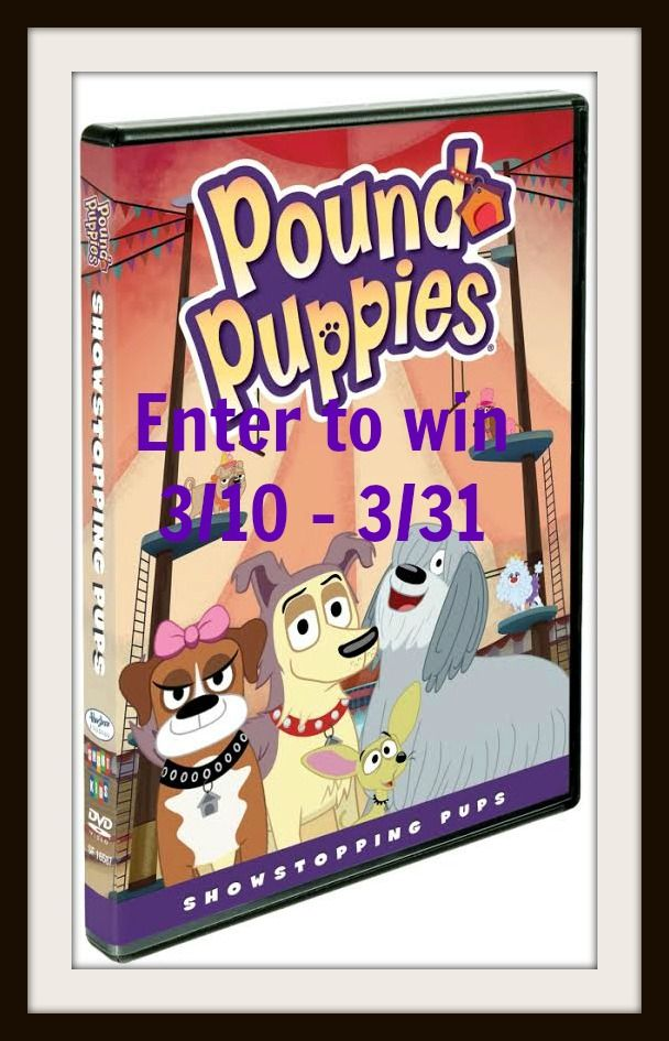 Enter To Win A Copy Of Pound Puppies Showstopping Pups On Dvd Ends 3 31 Giveaways Pound Puppies Puppies Pup