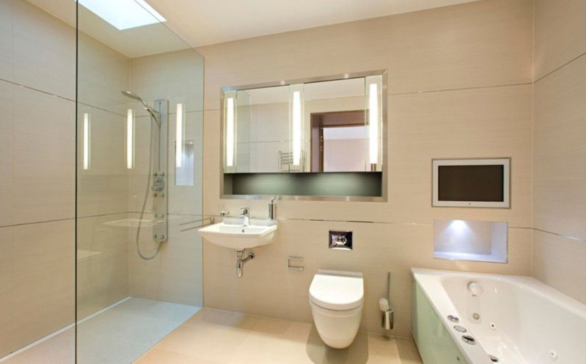 Built In Tv  Bathroom  Pinterest  Minimalist Modern Bathroom Fair Minimalist Bathroom Decorating Inspiration