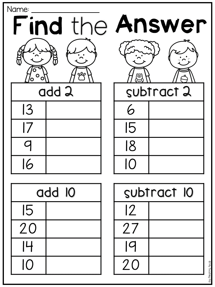 First Grade Addition And Subtraction Worksheet For First Grade Students Add 2 Su First Grade Math Worksheets 1st Grade Math Worksheets First Grade Worksheets