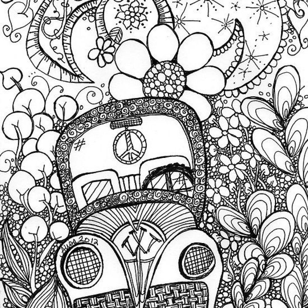 Uncategorized Trippy Color Pages beautiful trippy car doodle art coloring page pages page