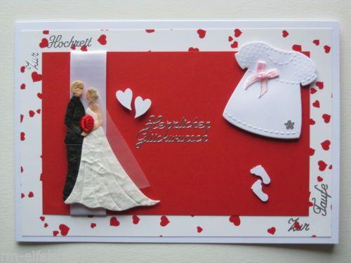 Glueckwunschkarte Hochzeit Taufe Traufe Brautpaar Baby