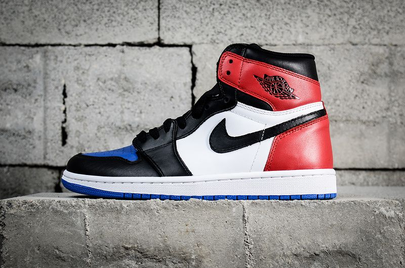 NEW Nike Air Jordan Retro 1 High OG Top 3 What AJ1 Black White Red Blue  555088-026 Hot Sale ccbd80ec5