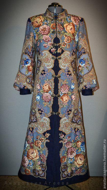 """Верхняя одежда ручной работы. Ярмарка Мастеров - ручная работа. Купить Пальто из платка """"Радоница"""".. Handmade. Цветочный, индивидуальный пошив"""