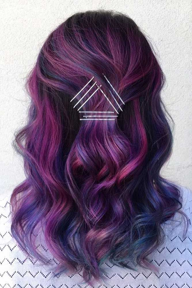 Dyed Hairstyles 42 Fabulous Purple And Blue Hair Styles  Pinterest  Blue Hair