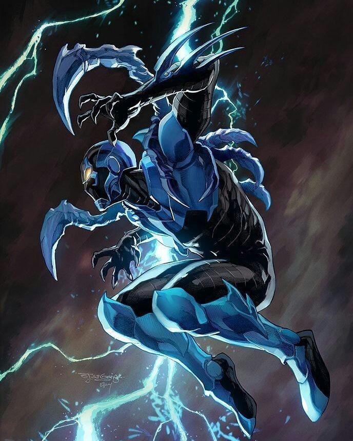 Resultado de imagen para superhéroe escarabajo azul gif