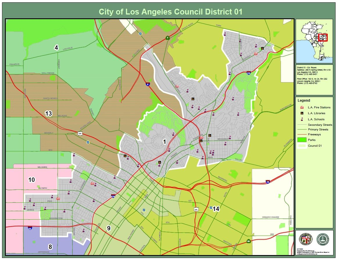 Elysian Park Map  Park Victory Heights Koreatown Mid Cities - Los angeles k town map