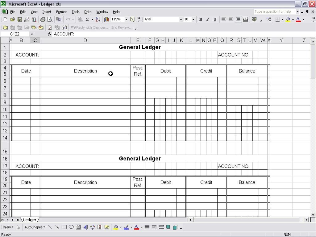 Accounting Ledger Template Places To Visit Pinterest Template