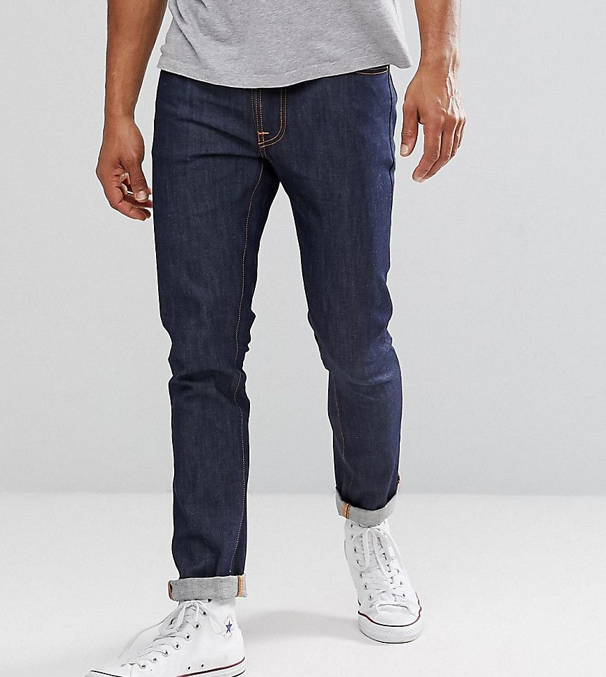 4cd2b176e4cc60 NUDIE JEANS CO LEAN DEAN JEANS DRY LIGHT COOL WASH - NAVY. #nudiejeans  #cloth #