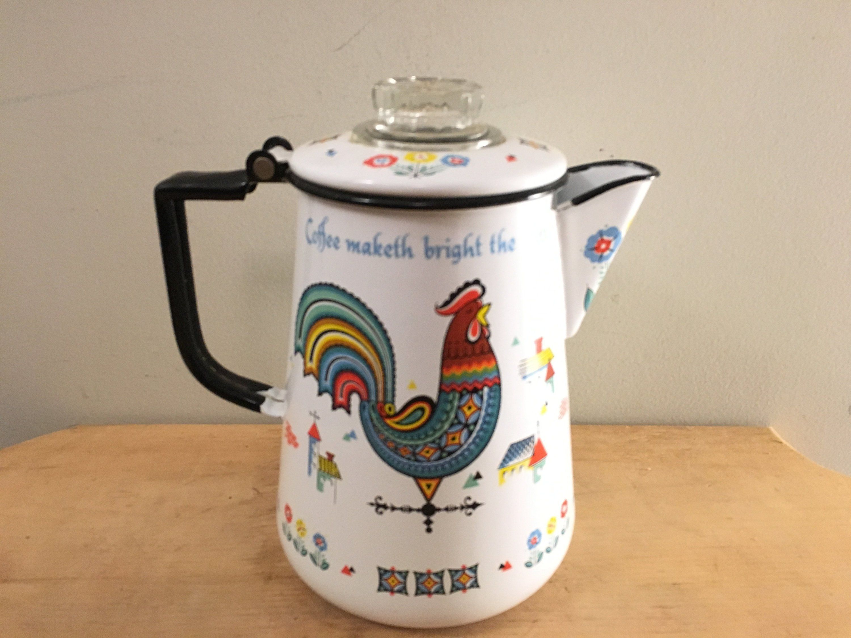 60 oz Fitz and Floyd English Garden Teapot Earthenware New in Box.