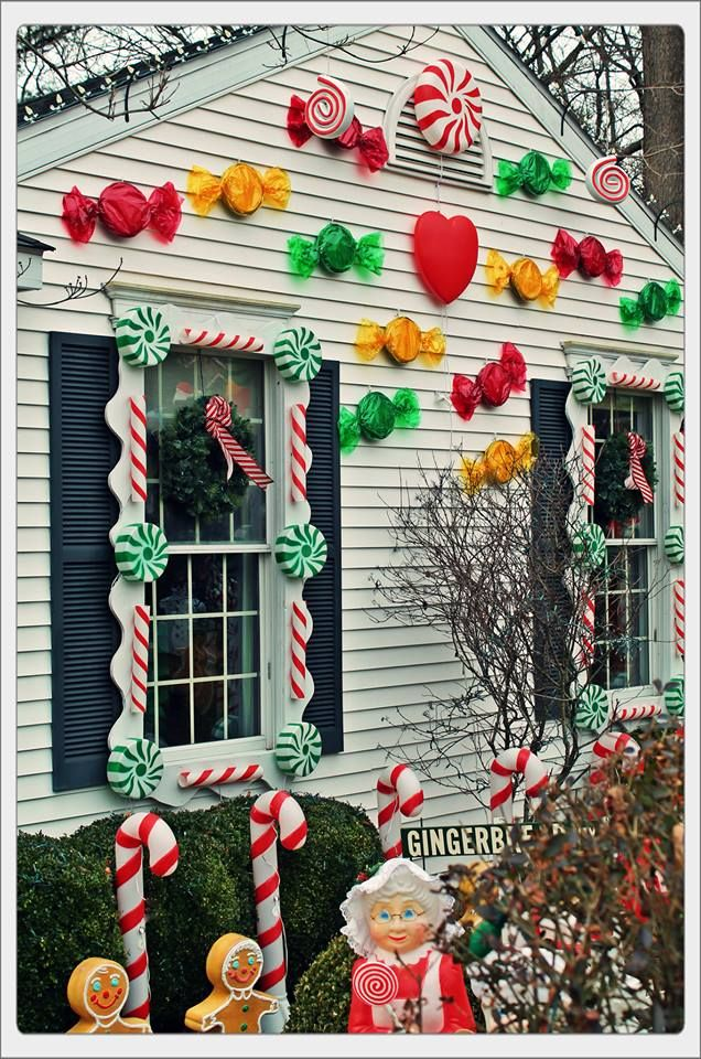 Candy House Decorations … | Christmas Window Displays | Chris…