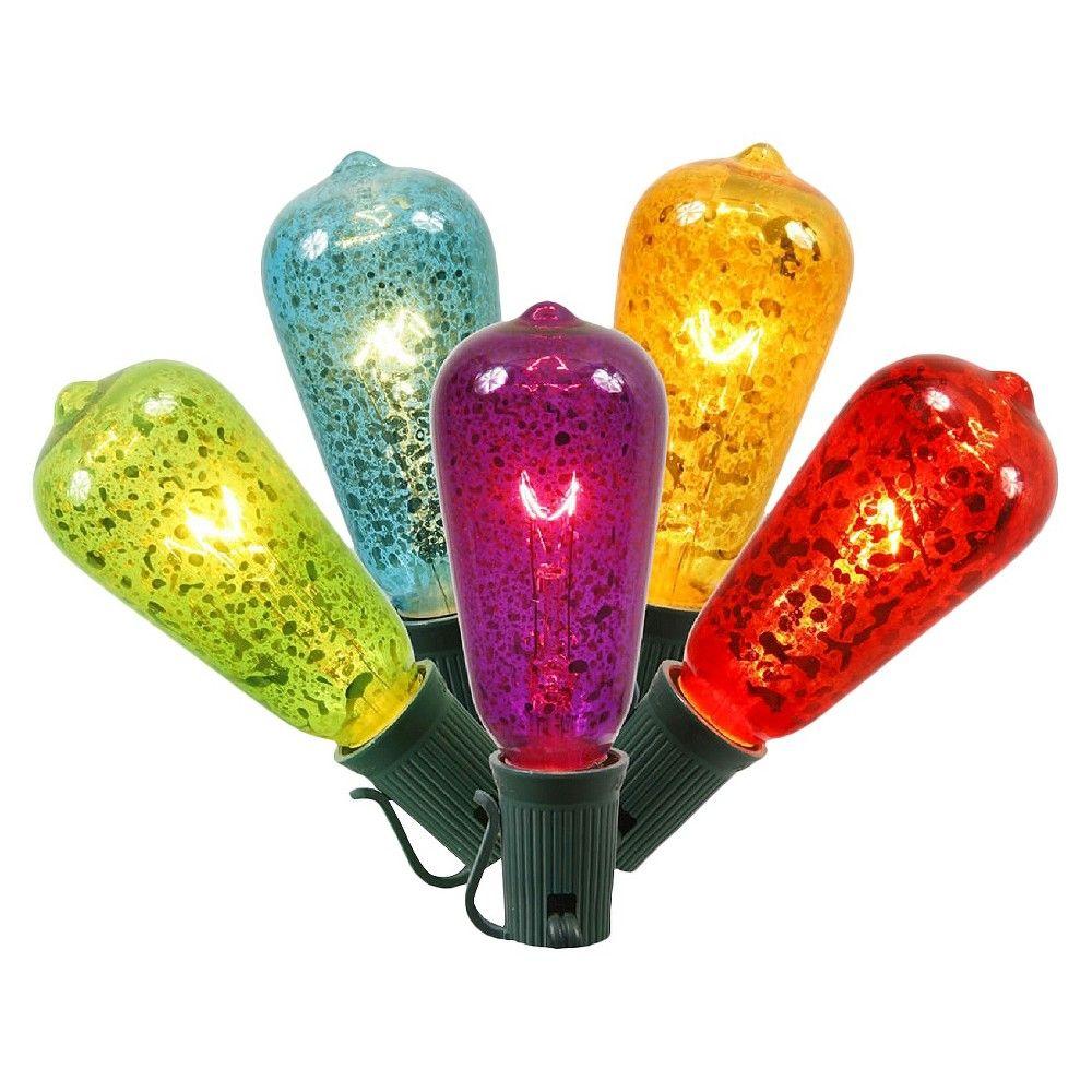 10 Light ST40 Crackle E12 Set - Multicolored Lights (12Sp 10'L),