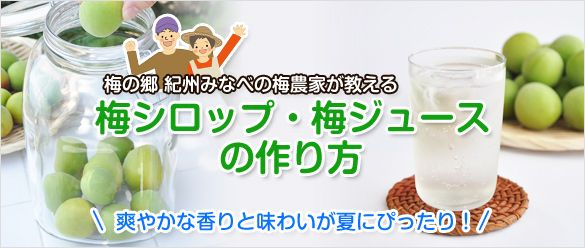 梅ジュース・梅シロップの作り方(レシピ)
