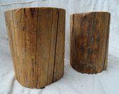 Hardwood stump tables. $97.00, via Etsy.
