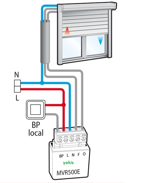 Schema De Branchement Volet Roulant Avec Micromodule Yokis Cablage Electrique Domotique Maison Volet Electrique