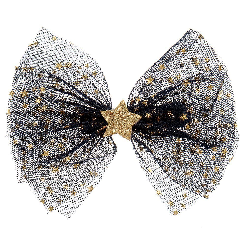 Bowtique London Gold Star Bow Hairclip (10cm) #kidshairaccessories