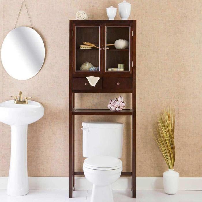 Bathroom furniture over the toilet cabinet | pinterdor | Pinterest ...