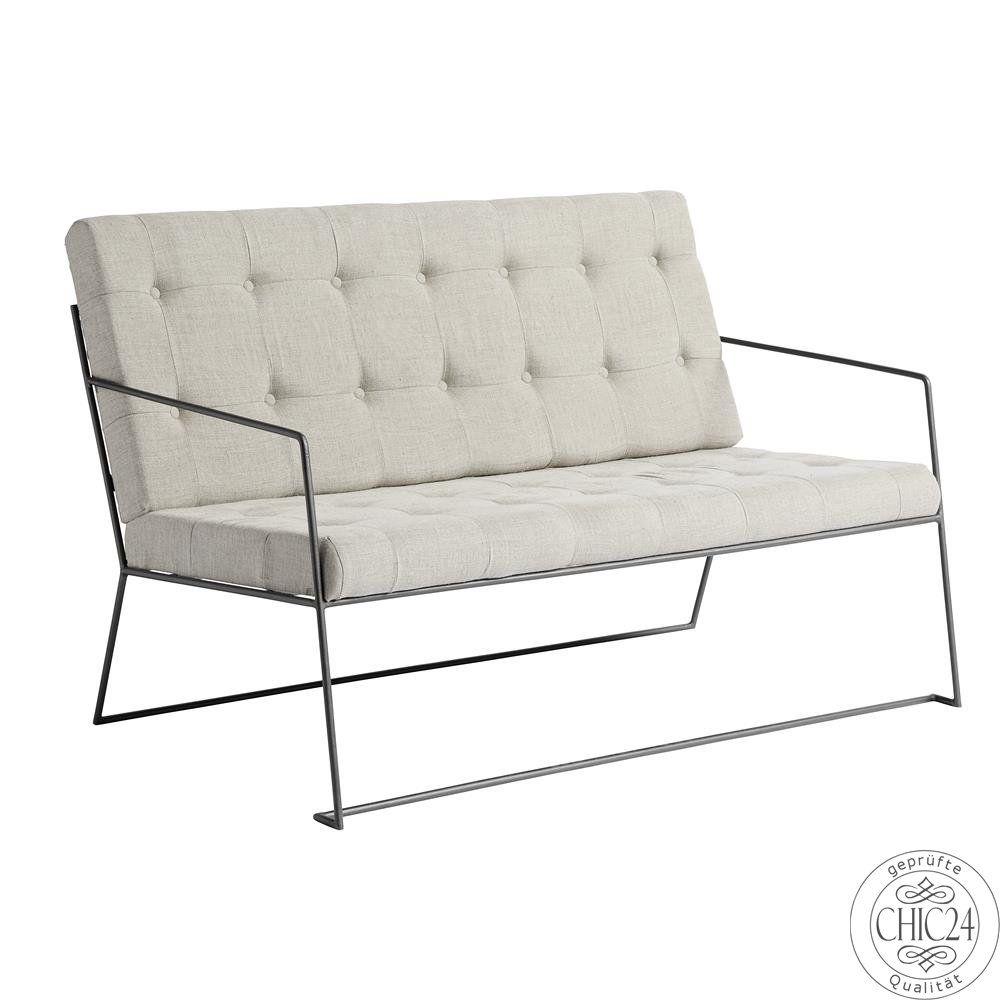Vintage Möbel Kaufen sofa nordal 100 leinen natur weiß chic24 vintage möbel und