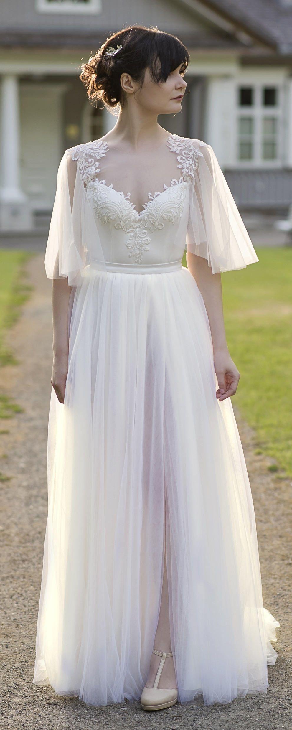 Back of wedding dress  Grace  bohemian wedding dress  wedding dress  open back wedding