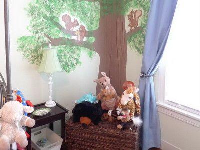 Live Oaks Baby Room Mural Design