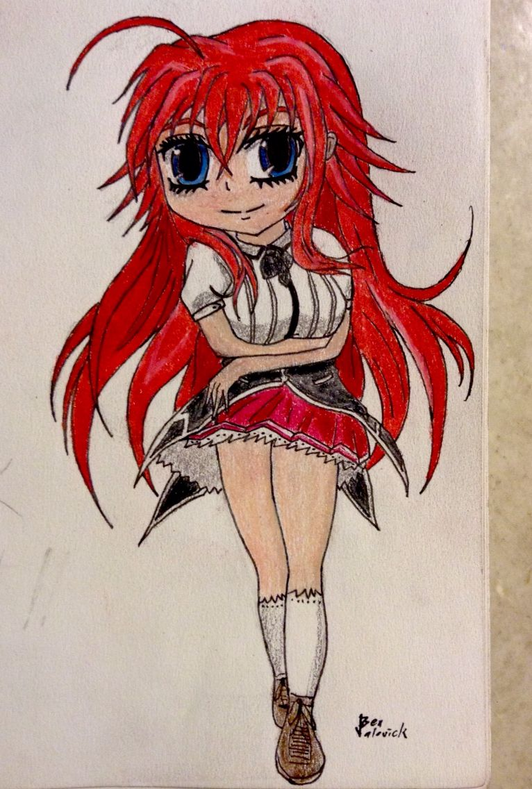 Chibi Rias Gremory Sketches, Artwork, Chibi