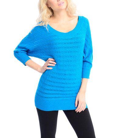 Look what I found on #zulily! Blue Dolman Sweater #zulilyfinds