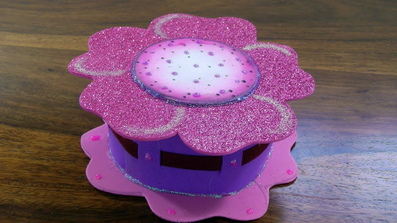 Cajita flor de goma eva foamy box manualidades con - La cajita manualidades ...