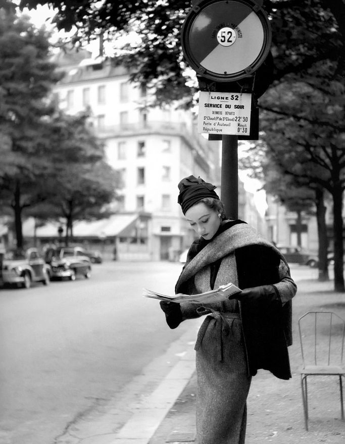 VINTAGE PHOTOGRAPHY: Sophie Litvak by Georges Dambier 1952