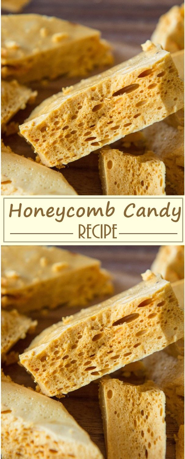 Honeycomb Candy Recipe - Trending Recipes #honeycombcandy